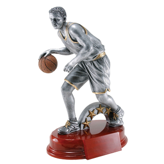 Basketball Silverline Trophy - 9 25