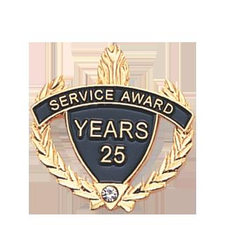 25 Years Service Award Lapel Pin | All Lapel Pins | Cheap Sports ...