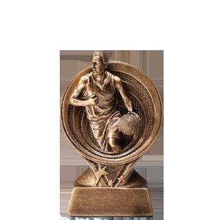 Golden Swirl Basketball Trophy - 6