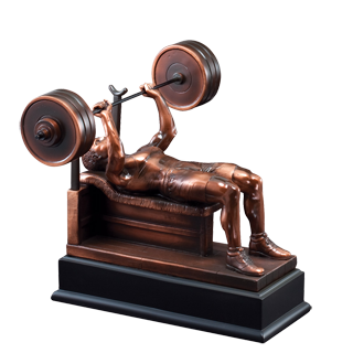 Weightlifting Bench Press Trophy 9 Weightlifting Trophies Cheap Sports Trophies