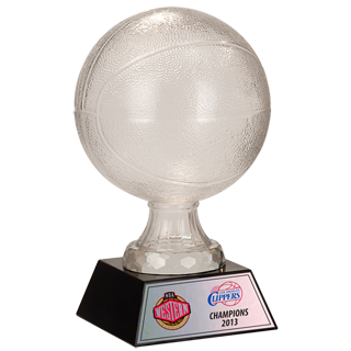 Winners Glass Basketball Trophy - 7 5